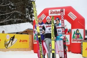 von links nach rechts Johann Andre Forfang, Viktor Polasek, Clemens Aigner