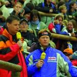 WCS 2001 Die Moderatoren Günther Jauch und Dieter Thoma